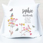 Butterfly Birth Personalised Cushion