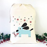 Personalised Santa Sack - Christmas Puppy