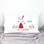Christmas Bunny Personalised Christmas Pillow Case