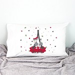 Christmas Bin Paris Personalised Pillow Case