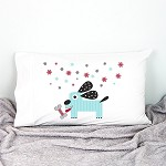 Christmas Puppy Personalised Christmas Pillow Case