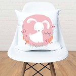 Pink Bunny Personalised Custom Cushion