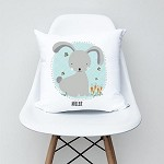Blue Bunny Personalised Custom Cushion