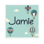 In The Clouds Personalised Wooden Name Plaque