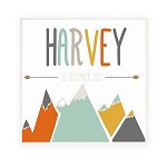 Mountain Arrow Personalised Wooden Name Plaque
