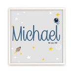 Personalised Space Wooden Name Plaque