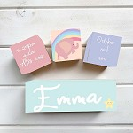 Rainbow Elephant Wooden Birth Blocks