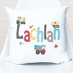 Trucks and Tippers Personalised Custom Cushion