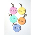 Round Acrylic Personalised Bag Tag