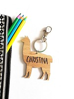 Alpaca Llama Personalised Bag Tag