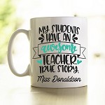 Personalised Teacher Mug Awesome Teacher