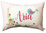 Girls Baby Bird Personalised Custom Cushion