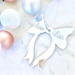 Bow Personalised Christmas Ornament Decoration