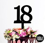 Cake Topper Birthday Number