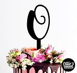 Custom Cake Topper - Single Letter Monogram