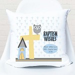 Boys Christening/Baptism/Naming Day Personalised Cushion