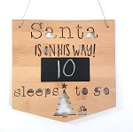 Santa is On His Way Christmas Countdown Sign