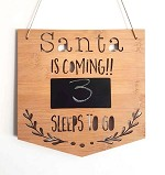 Santa is Coming Christmas Countdown Sign