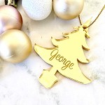 SALE - GEORGE TREE Christmas Ornament GOLD