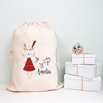 Personalised Santa Sack - Christmas Bunny