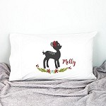 Christmas Fawn Kids Personalised Pillow Case