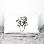 Christmas Reindeer Kids Personalised Pillow Case