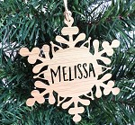 Snowflake Personalised Christmas Ornament