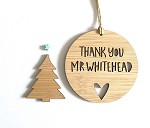 Thank you Teacher Personalised Christmas Ornament