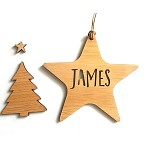 Star Personalised Christmas Ornament