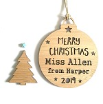 Personalised Thank you Teacher Christmas Ornament