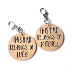 This Dad Belongs To... Wooden Father's Day Key Ring
