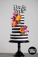 Custom Wedding Cake Topper - Name and Name