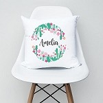 Desert Flowers Personalised Girls Cushion