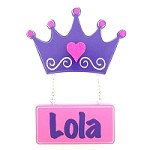 Door Shape with Name - Purple Crown