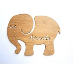 Elephant Personalised Bamboo Name Sign