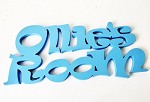 Wooden OLLIES ROOM name sign