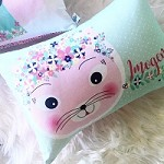 Floral Kitty Personalised Custom Cushion