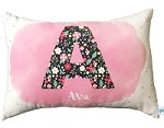 Floral Initial Personalised Custom Cushion