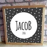 Personalised Framed Name Plaque - Black Cross