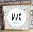 Personalised Framed Name Plaque- Blue Cross
