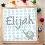 Personalised Framed Name Plaque  - Elephant Spray