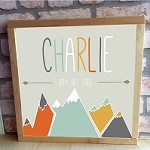 Personalised Framed Name Plaque - Mountain Arrow
