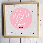 Personalised Framed Name Plaque - Pink Arrow
