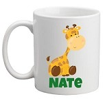Personalised Kids Mug/Cup - Giraffe