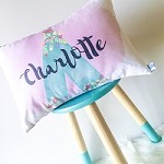 Girls Personalised Tee Pee Watercolour Cushion