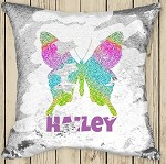 Personalised BUTTERFLY Sequinned Cushion