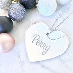 SALE - PERRY Heart Christmas Ornament