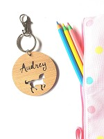 Round Horse Personalised Bag Tag