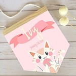 Personalised Name Pendant Flag - Kitty Cat