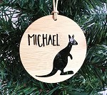 Kangaroo Personalised Christmas Ornament